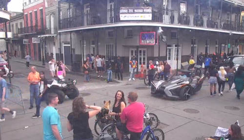 Bourbon Street of the French Quarter in Louisiana
