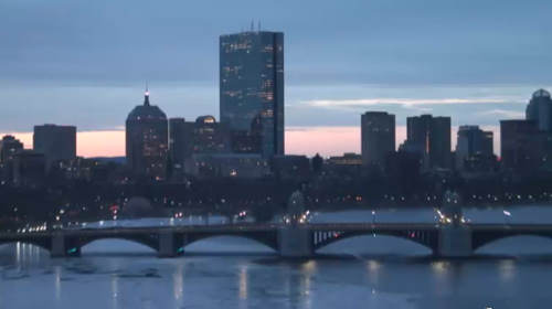 Downtown and the Charles River in Massachusetts