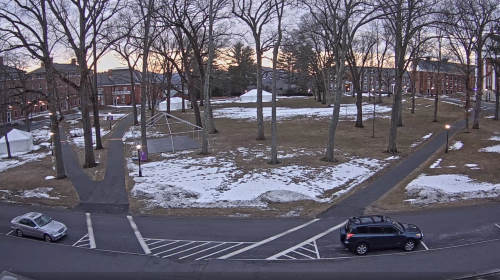Main Square of Amherst College in Massachusetts