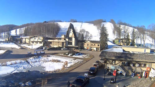 Clock Tower ski resort Boyne Mountain in Michigan